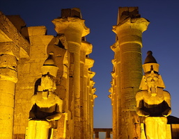 Luxor golden temple by night